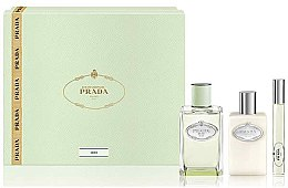 Parfumuri și produse cosmetice Prada Infusion D'Iris - Set (edp/100ml + + b/lot/100ml + edp/mini/10ml)