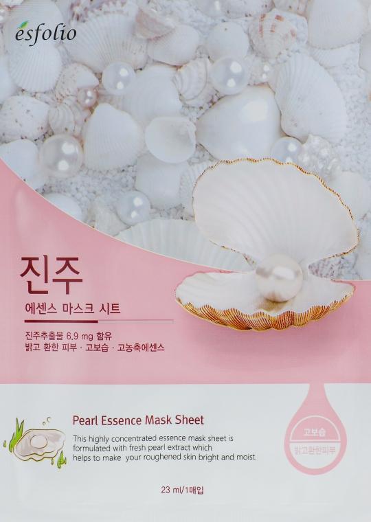 Mască din țesătură cu extract de perle - Esfolio Pearl Essence Mask Sheet