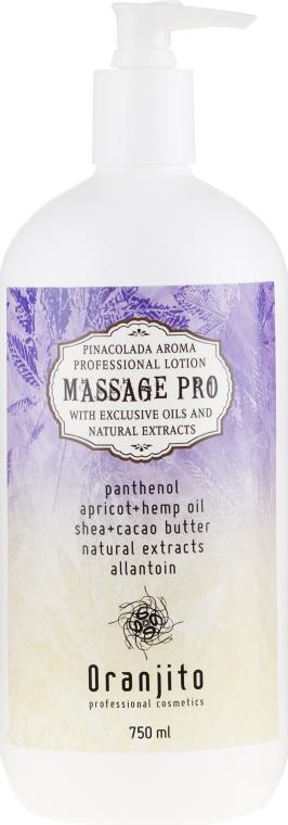 "Lapte pentru masaj ""Pina Colada"" - Oranjito Massage Pro Pina Colada Massage Body Milk — Imagine N1"