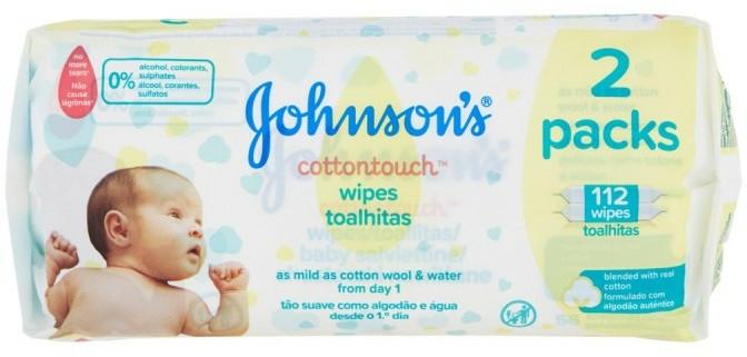 Șervețele umede, 112 buc. - Johnson's Baby Cotton Touch — Imagine N1