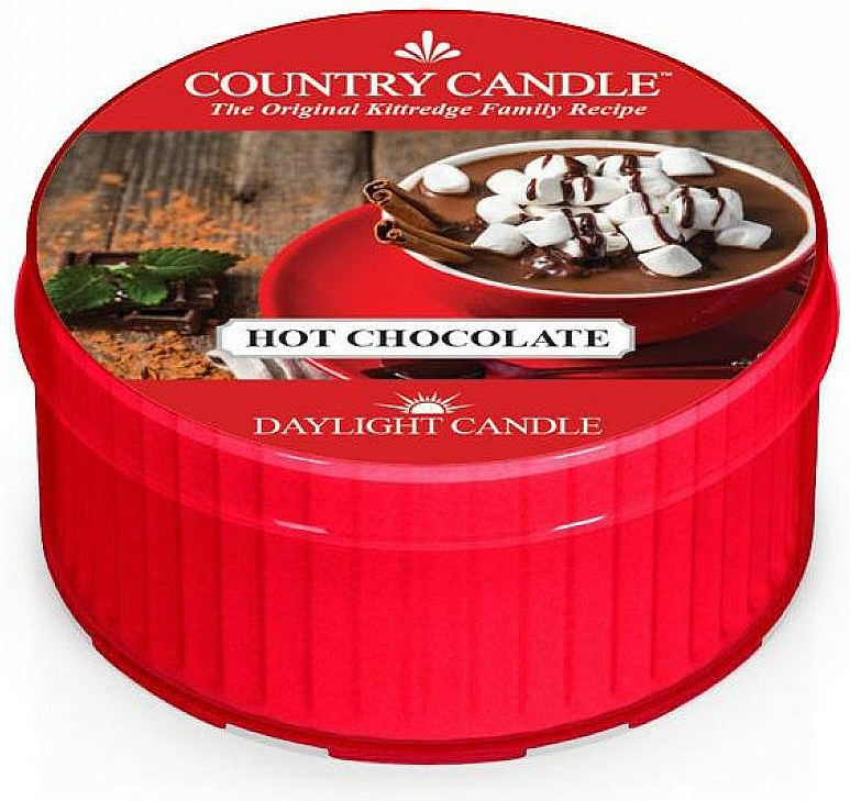 "Lumânare de ceai ""Ciocolată caldă"" - Country Candle Hot Chocolate Daylight — Imagine N1"