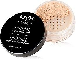 Parfumuri și produse cosmetice Pudră minerală pentru finisare - NYX Professional Makeup Mineral Matte Finishing Powder
