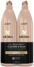 Parfumuri și produse cosmetice Set - Affinage Kitoko Oil Treatment Cleanser & Balm Litre Duo (h/sham/1000ml + h/balm1000ml)
