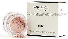 Parfumuri și produse cosmetice Fard cu extract chihlimbar pentru ochi - Uoga Uoga Natural Eye Shadow With Amber