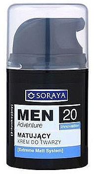 Cremă matifiantă pentru față - Soraya Men Adventure 20+ — Imagine N1
