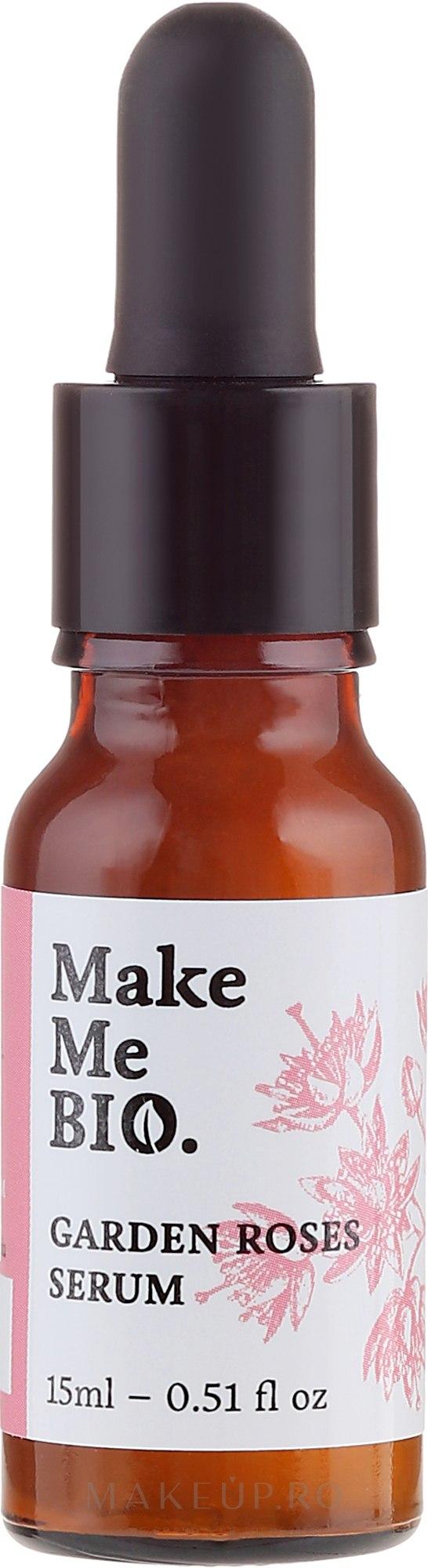 Ser pentru față - Make Me Bio Serum Garden Roses — Imagine 15 ml