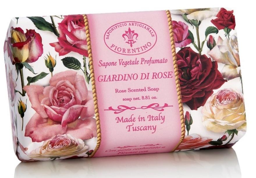 "Săpun natural ""Grădina Trandafirilor"" - Saponificio Artigianale Fiorentino Rose Garden Scented Soap — Imagine N1"