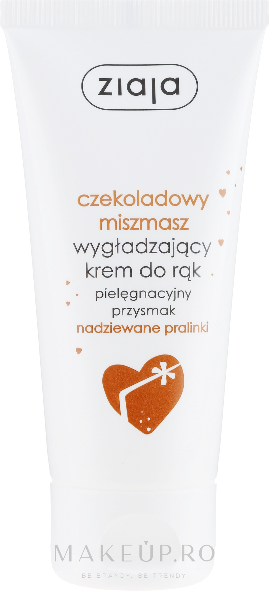"""Cremă de mâini """"Praline de ciocolată"""" - Ziaja Hand Cream — Imagine 50 ml"""