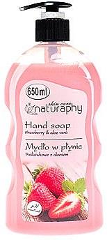 """Săpun lichid """"Căpșună și Aloe Vera"""" - Bluxcosmetics Naturaphy Hand Soap"""