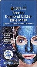 Parfumuri și produse cosmetice Mască de față - Skinlite Starkle Diamond Glitter Blue Mask