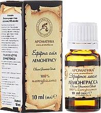 "Ulei esențial ""Lemongrass"" - Aromatika — Imagine N1"