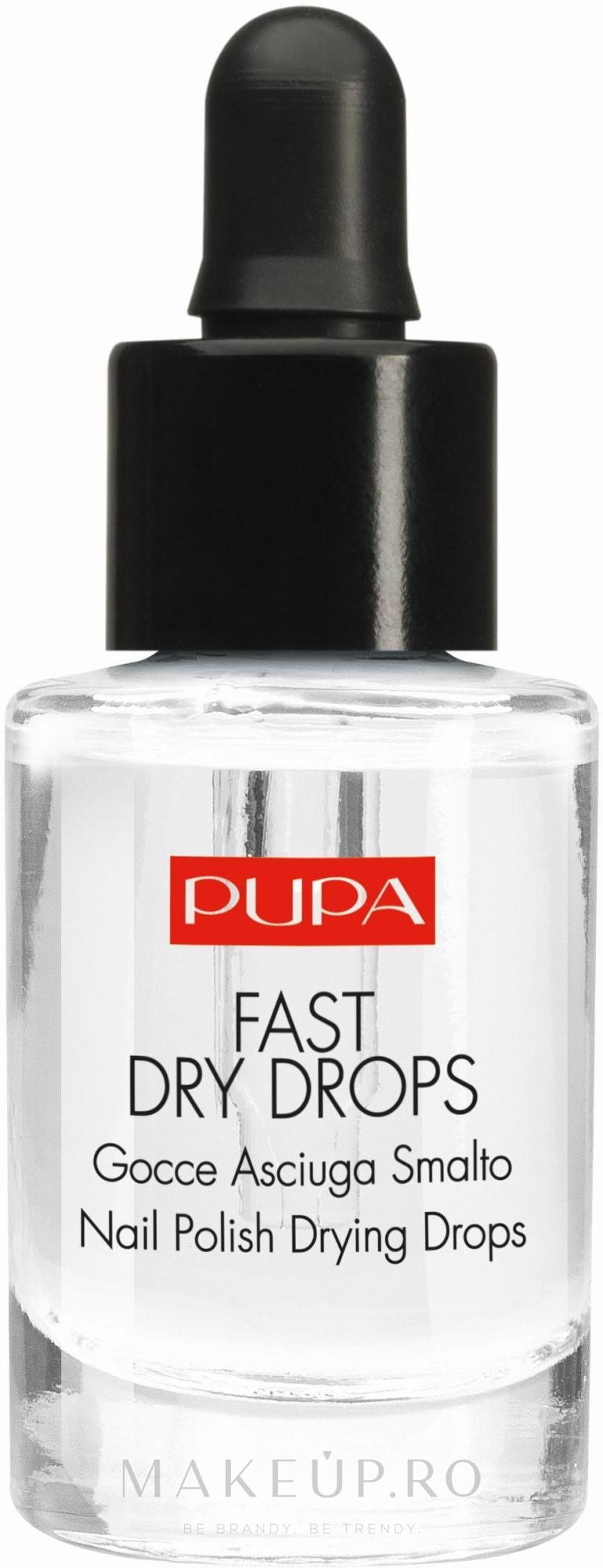 Uscător pentru lac de unghii - Pupa Fast Dry Drops — Imagine 7 ml