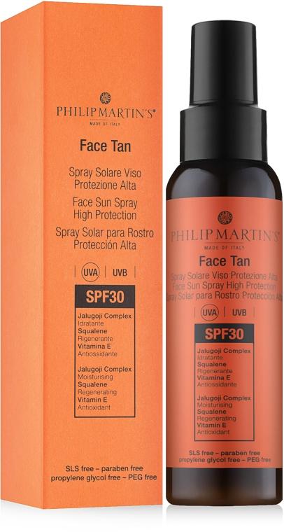 Spray protecție solară pentru față - Philip Martin's Face Tan SPF 30 — Imagine N1