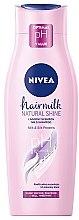 """Parfumuri și produse cosmetice Șampon-Lăptișor """"Strălucire"""" pentru păr - Nivea Hair Milk Natural Shine"""