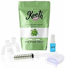 """Parfumuri și produse cosmetice Set pentru albirea dinților """"Mentă"""" - Keeth Mint Teeth Whitening Kit"""