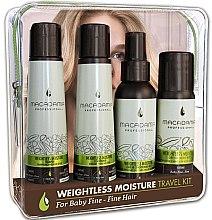 Parfumuri și produse cosmetice Set - Macadamia Professional Weightless Moisture Travel Kit (shm/100ml + cond/100ml + cond/100ml + oil/50ml)