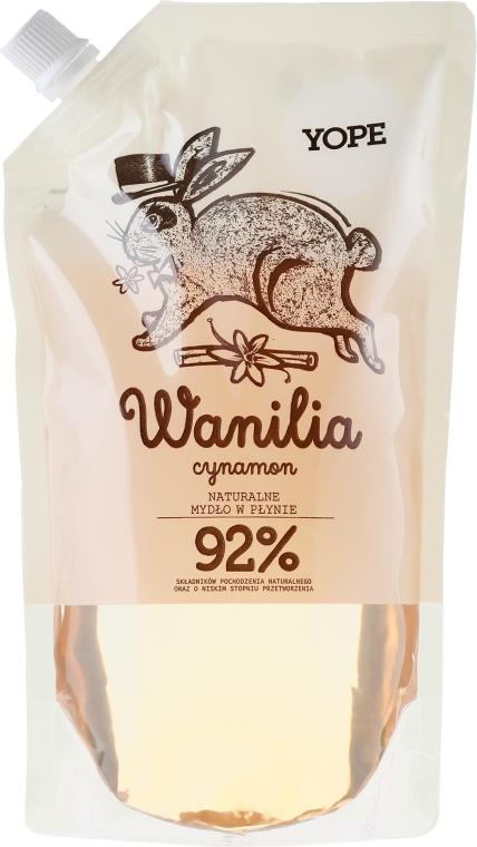 "Săpun lichid ""Vanilie"" (doy pack) - Yope Vanilla & Cinnamon Natural Liquid Soap Refill Pack — Imagine N1"