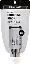 Parfumuri și produse cosmetice Mască de față - Alice Koco Coconut Soothing Mask
