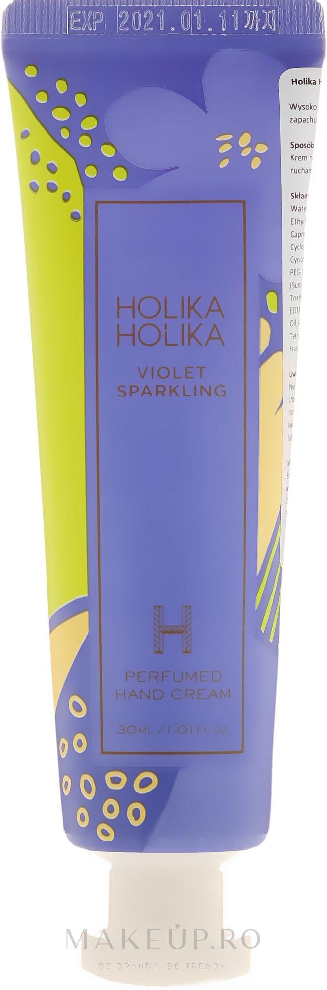 "Cremă de mâini ""Violete"" - Holika Holika Violet Sparkling Perfumed Hand Cream — Imagine 30 ml"