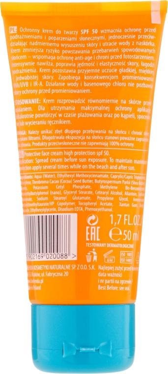 Cremă de protecție solară pentru corp SPF 50 - Bielenda Bikini Matt Look Perfective Face Cream — Imagine N2