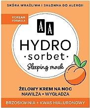 Parfumuri și produse cosmetice Mască de noapte pentru față - AA Hydro Sorbet Korean Formula Sleeping Mask