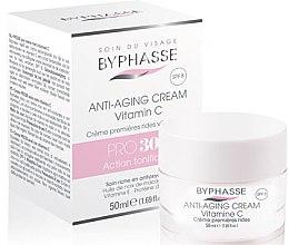 Parfumuri și produse cosmetice Cremă împotriva primelor riduri - Byphasse Anti-aging Cream Pro30 Years Vitamin C