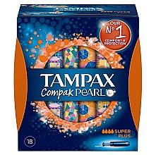 Parfumuri și produse cosmetice Tampoane cu aplicator, 18 bucăți - Tampax Pearl Compak Super Plus
