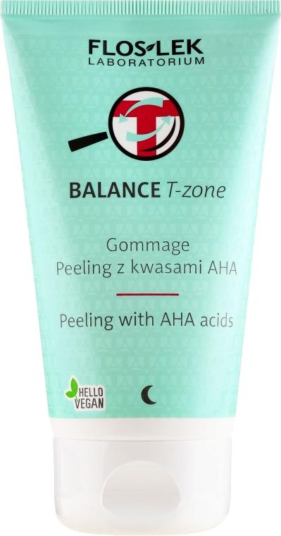 Peeling cu acizi, pentru față - Floslek Balance T-Zone Gommage Peeling With AHA Acids