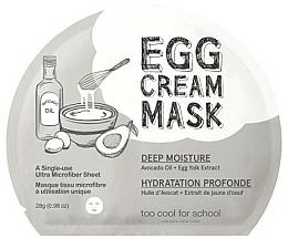 """Parfumuri și produse cosmetice Mască cu ou """"Hidratare profundă"""" - Too Cool For School Egg Cream Mask Deep Moisture"""
