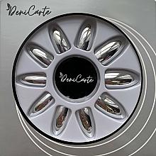 Parfumuri și produse cosmetice Unghii false cu efect de oglindă, 42411, argintii - Deni Carte