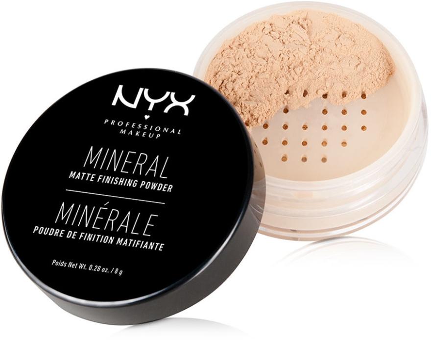 Pudră minerală pentru finisare - NYX Professional Makeup Mineral Matte Finishing Powder