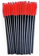 Parfumuri și produse cosmetice Perii din nailon pentru gene, negru-roșu - Novalia Group