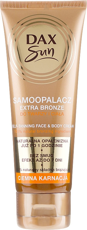 Autobronzant pentru ten închis - DAX Sun Extra Bronze Dark Skin Self-Tanning Cream