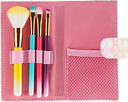 Parfumuri și produse cosmetice Set pensule de machiaj, 4 bucăți, multicolore - Avon