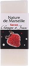 "Set ""Căpșuni și Șampanie"" - Nature De Marseille (sh/gel/150ml +cr/60ml + b/balm/100ml + soap/95g) — Imagine N5"