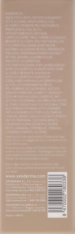 Cremă antirid regenerantă pentru piele matură - SesDerma Laboratories Retises 0.25% Antiwrinkle Regenerative Cream — Imagine N3