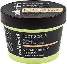 """Parfumuri și produse cosmetice Scrub pentru picioare """"Ghimbir și Bergamotă"""" - Cafe Mimi Foot Scrub Pumice"""