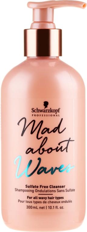 Șampon fără sulfați pentru păr ondulat - Schwarzkopf Professional Mad About Waves Sulfate Free Cleanser