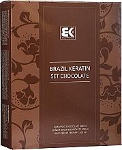 Parfumuri și produse cosmetice Set - Brazil Keratin Intensive Repair Chocolate (shm/300ml + cond/300ml + serum/100ml)