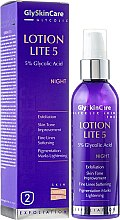 Parfumuri și produse cosmetice Emulsie-peeling 5% de noapte pentru ten normal și gras - GlySkinCare Lotion Lite 5