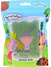 """Parfumuri și produse cosmetice Burete de baie pentru copii """"Ben și Holly"""", Ben, roz-verde - Suavipiel Ben & Holly Bath Sponge"""