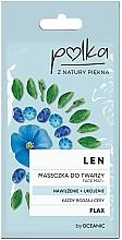 Parfumuri și produse cosmetice Mască cu extract de in pentru față - Polka Face Mask