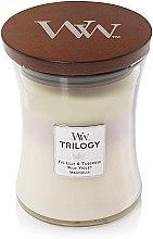 Lumânare aromată - WoodWick Hourglass Trilogy Candle Terrace Blossoms — Imagine N2