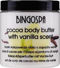 Parfumuri și produse cosmetice Unt de cacao pentru corp, vanilie - BingoSpa