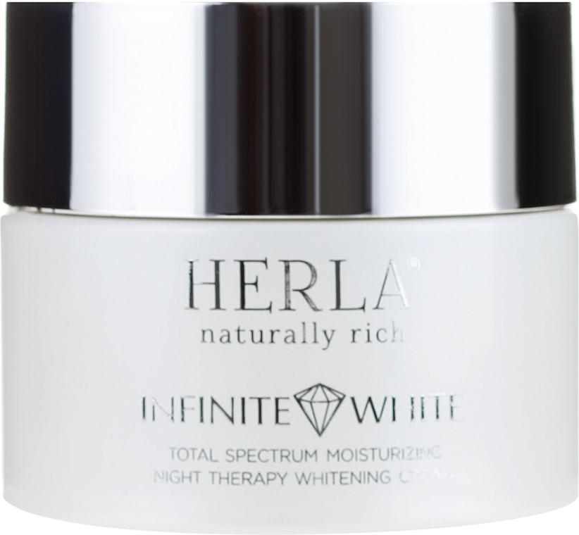 Cremă de față - Herla Infinite White Total Spectrum Moisturizing Night Therapy Whitening Cream — Imagine N2