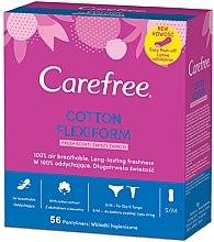 Parfumuri și produse cosmetice Absorbante pentru fiecare zi, 56 bucăți - Carefree Cotton FlexiForm