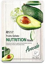 Parfumuri și produse cosmetice Mască nutritivă cu avocado pentru față - SNP Fruits Gelato Nutrition Mask