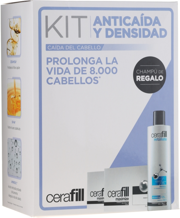 Set - Redken Cerafill Anticaida Y Densidad Kit (shm/290ml+hair/advance/20*6ml) — Imagine N1