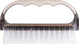 Parfumuri și produse cosmetice Perie cosmetică pentru unghii, 74752, transparentă, gri - Top Choice