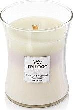 Lumânare aromată - WoodWick Hourglass Trilogy Candle Terrace Blossoms — Imagine N1